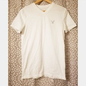 American Eagle Outfitters Shirts - America Eagle XS white v neck short sleeve shirt